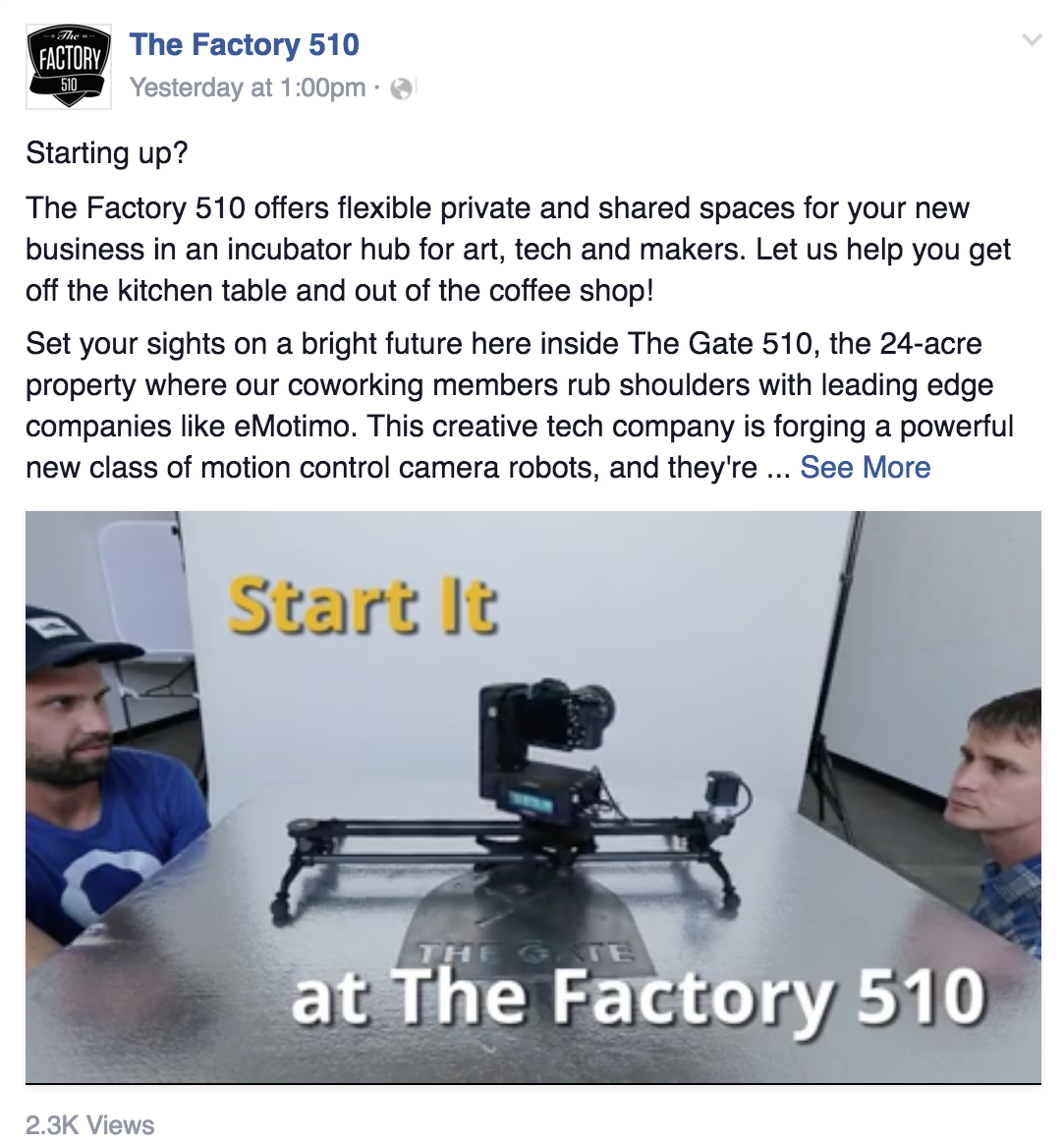 Start It (Facebook Views)
